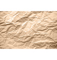 light brown texture crumpled paper vector image