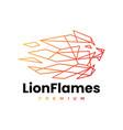 lion fire flame geometric polygonal logo icon vector image vector image
