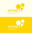 logo bee honey stylish and modern logo vector image vector image