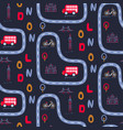 london city outdoor baseamless pattern vector image