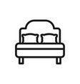 luxury bed and pillows mattress comfortable soft vector image