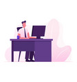 manager occupation job business man working on vector image