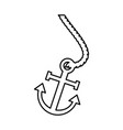 marine anchor isolated icon vector image