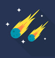 meteor icon set of great flat icons with style vector image