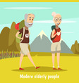 modern elderly people background vector image vector image