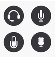modern microphone icons set vector image