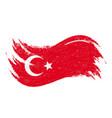 national flag of turkey designed using brush vector image