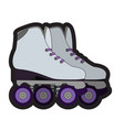 pair of roller skates vector image