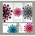 pattern with abstract figures brochures vector image vector image