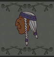 Red Indian head vector image vector image
