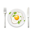 scrambled eggs plate fork vector image vector image