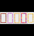 set colored trendy gradient frame vector image