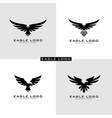 set eagle logo symbol vector image vector image