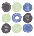Set of 9 decorative wedding and romantic elements vector image vector image