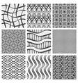 Set of nine geometrical patterns vector image