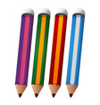 set of pencil with eraser vector image