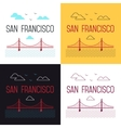 set of San Francisco Golden Gate vector image vector image