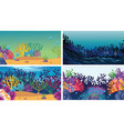 set scenes in nature setting vector image vector image