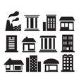 set urban building icons vector image