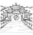 shaolin vector image