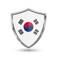 shield with flag of south korea isolated vector image vector image