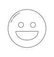 smiley face icon vector image vector image