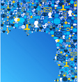 Social media network background vector image vector image