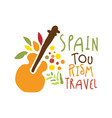 spain tourism logo template hand drawn vector image vector image