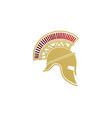 spartan warrior helmet sparta mask logo design vector image