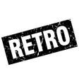 square grunge black retro stamp vector image vector image