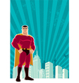 Superhero city vector | Price: 3 Credits (USD $3)