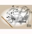 Thailand flute vector image