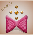 thyroid iodine vector image vector image