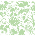 tropic silhouette pattern vector image vector image