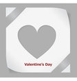 Valentines Day paper sticker vector image vector image