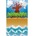 Volcano island2 vector image vector image