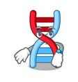 waiting dna molecule mascot cartoon vector image