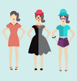 Woman modern clothing flat vector image vector image