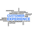 word cloud customer experience vector image vector image