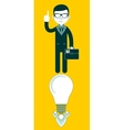 Young businessman with ideas vector image vector image
