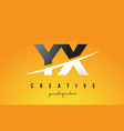yx y x letter modern logo design with yellow vector image vector image