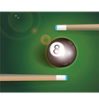 The eight ball Billiard Background vector image
