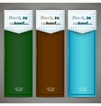 Set of colorful banners arrows bookmarks Back to vector image