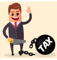 business man or manager cutting Tax burden vector image
