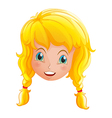 A face of a smiling girl vector image vector image