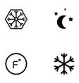 air condition icon set vector image vector image