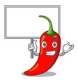 bring board cartoon red hot natural chili pepper vector image vector image