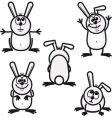 bunny icons vector image vector image