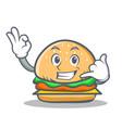 Burger character fast food call me vector image