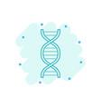 cartoon dna icon in comic style medecine molecule vector image vector image